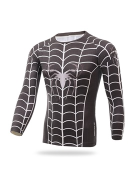 Spider-Print Long-Sleeve Men's Thermal Jersey