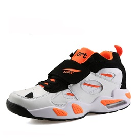 Contrast Color Lace-Up Basketball Shoes
