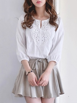 Elegant 3/4 Sleeve Top & Wide-Leg Short