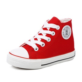 High-Cut Lace-Up Kids' Canvas Shoes