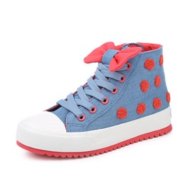Bow-Knot High-Cut Kids' Sneakers