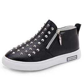 Rivet-Detail Zipper Kid's Sneakers