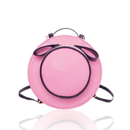 PU Adjustable Strap Hat Shaped Girl's Mini Bag