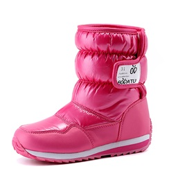 Color Block Thickening Girl's Boots