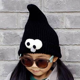 Big Eyes Decorated Kid's Knitted Hat