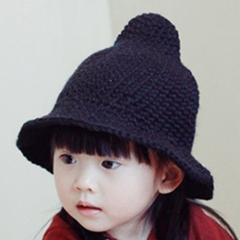 Solid Color Spire Woolen Yarn Kid's Hat