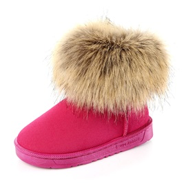 Faux-Fur Details Girl's Lined Winter Boots