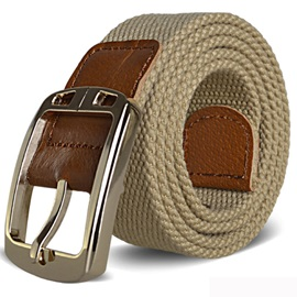 Canvas Alloy Pin Buckle Men Belt