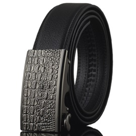 Automatic Buckle Double Sided Men's Belt