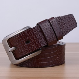 Fashion Crocodile Pattern PU Men's Belt