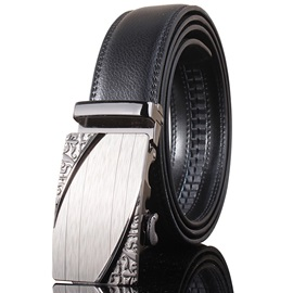 Unique Alloy Buckle Ratchet Slide Holeless Men's Belt