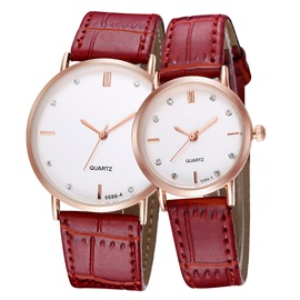 Vintage Round Dial Analog Lovers' Watches ( Price for a Pair )