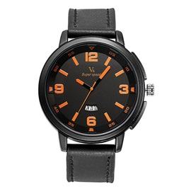 Large Dial with Three Pointers Men's Watch