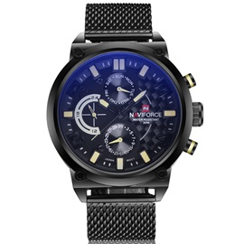 Blue Surface Net Ribbon Men's Quartz Watch