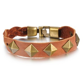 Rivets Decorated PU Bracelet
