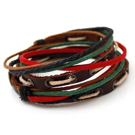 Multi-layer Leather Men's Bracelet
