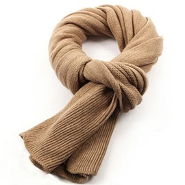 Solid Color Woolen Yarn Warm Men's Scarf