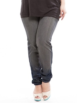 Plus Size Gradient Designed Pencil Jean