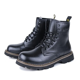 Round Toe Lace-Up Men's Martin Boots