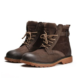 Brush-Off PU Lace-Up Men's Boots