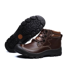 PU Thread Lace-Up Men's Boots