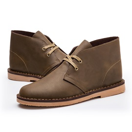Thread Round Toe Men's Boots