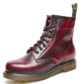 PU Plain Brush Men's Fashion Boots