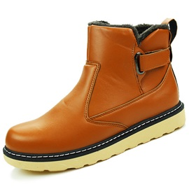PU Plain Velcro Men's Boots Sale
