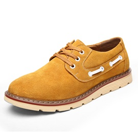 Solid Color Plain-Toe Nubuck Derbies