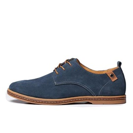 Lace-up Cow Suede Oxfords Men's Shoes