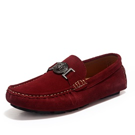 Suede Buckles Slip-On Men's Shoes