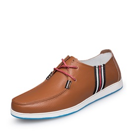 PU Lace-Up Men's Boat Shoes