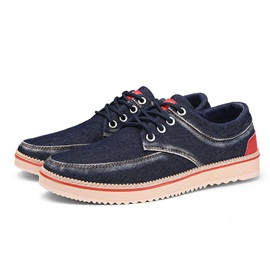 Worn Lace-Up Men's Boat Shoes