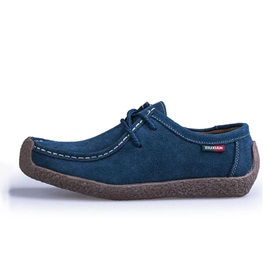 Suede Lace-Up Square Toe Men's Shoes