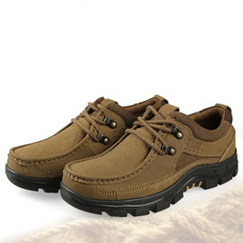 Round Toe Front Lace-Up Men's Hiking Shoes