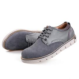 PU Patchwork Round Toe Men's Oxford Shoes