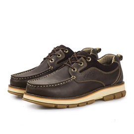 Thread Lace-Up Front Men's Boat Shoes