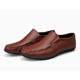 PU Thread Slip-On Casual Shoes