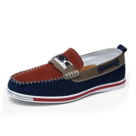 Color Block Slip-On Men's Boat Shoes