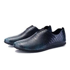 Embossed PU Slip-On Men's Causal Shoes