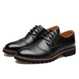 PU Round Toe Men's Brogue Shoes