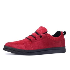 Solid Color Suede Lace-Up Casual Shoes