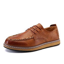 PU Thread Lace-Up Casual Shoes for Men