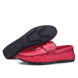 Embossed PU Men's Loafers