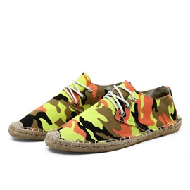 Camouflage Color Lace-Up Espadrilles