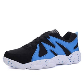 Breathable Color Block Round Toe Sport Shoes