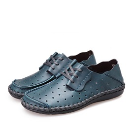 PU Hollow Lace-Up Casual Shoes for Men