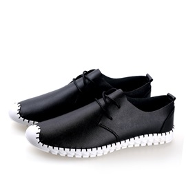 PU Thread Round Toe Casual Shoes