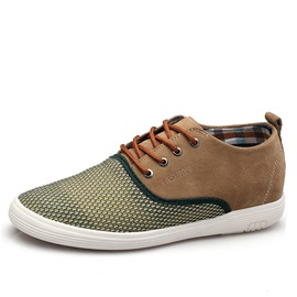 Breathable Mesh Patchwork Lace-Up Casual Shoes