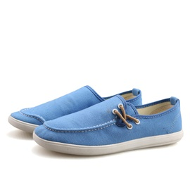 Solid Color Thread Slip-On Canvas Shoes